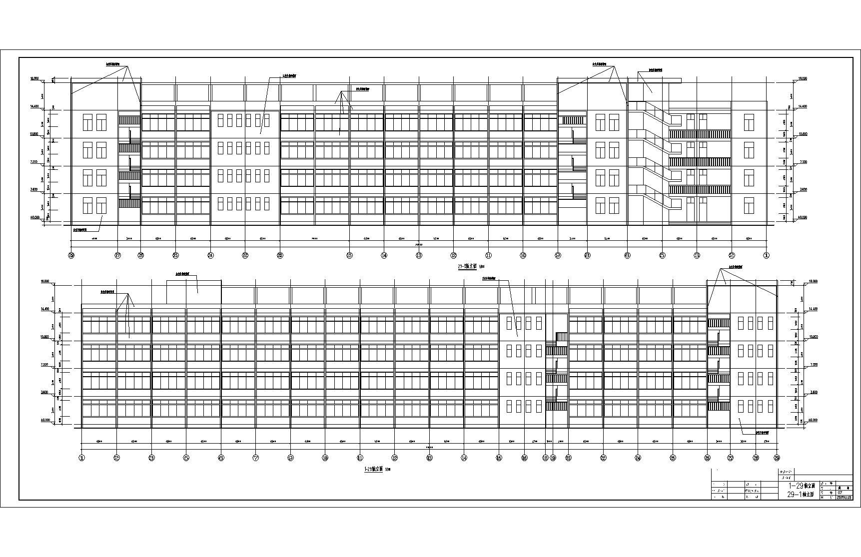 造价毕业设计_4层框架教学楼