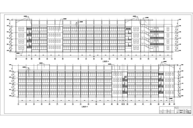 图纸工程量清单计价_4层综合教学楼