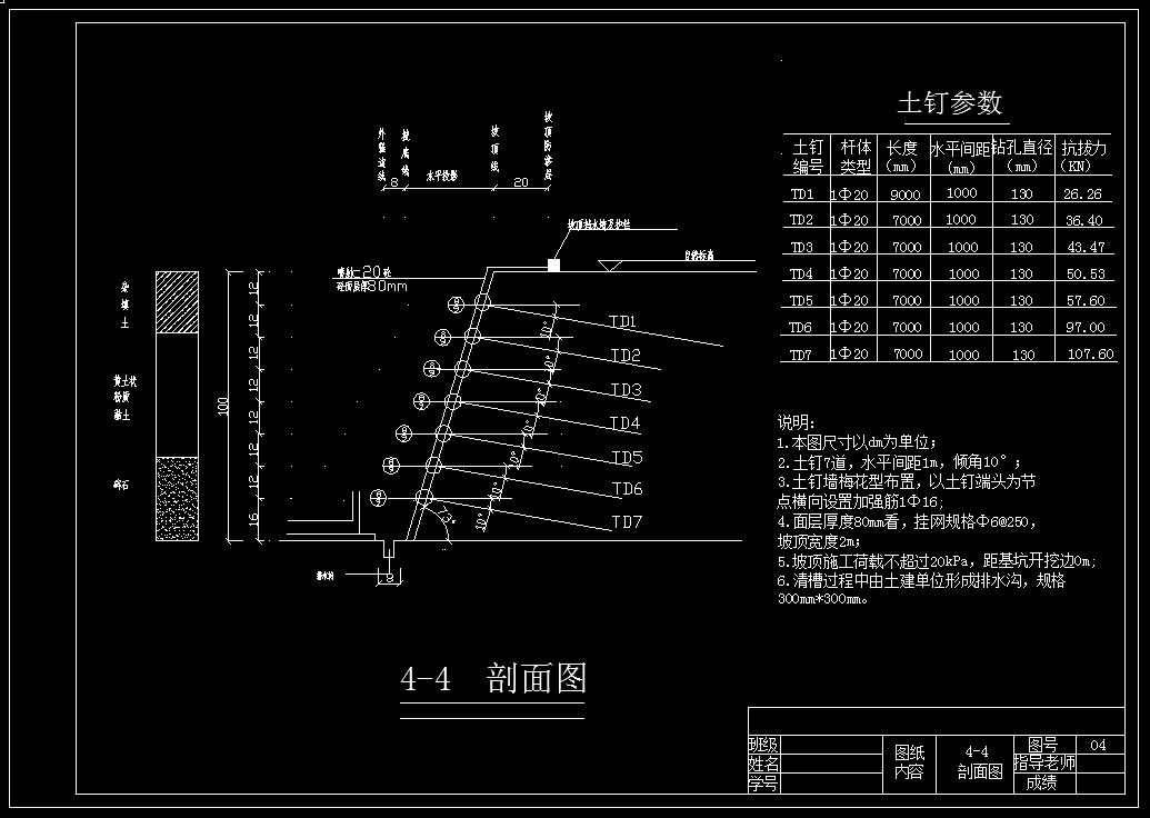 岩土毕业设计_深基坑边坡支护设计方案