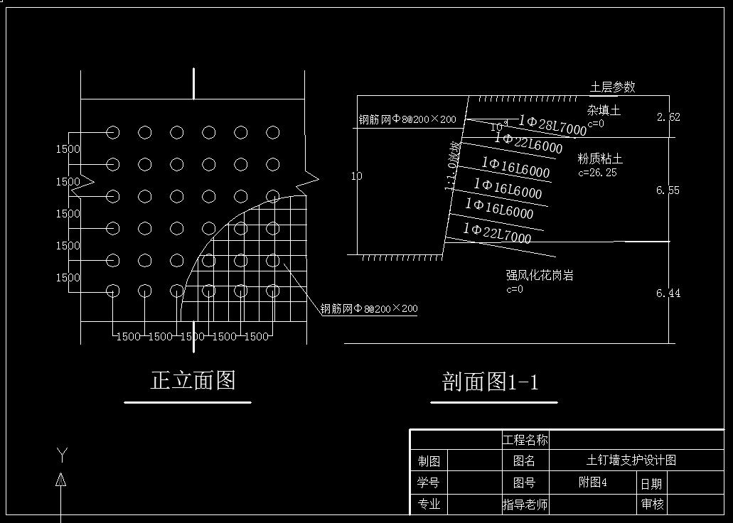 岩土毕业设计_广场商业楼地下车库基坑开挖支护
