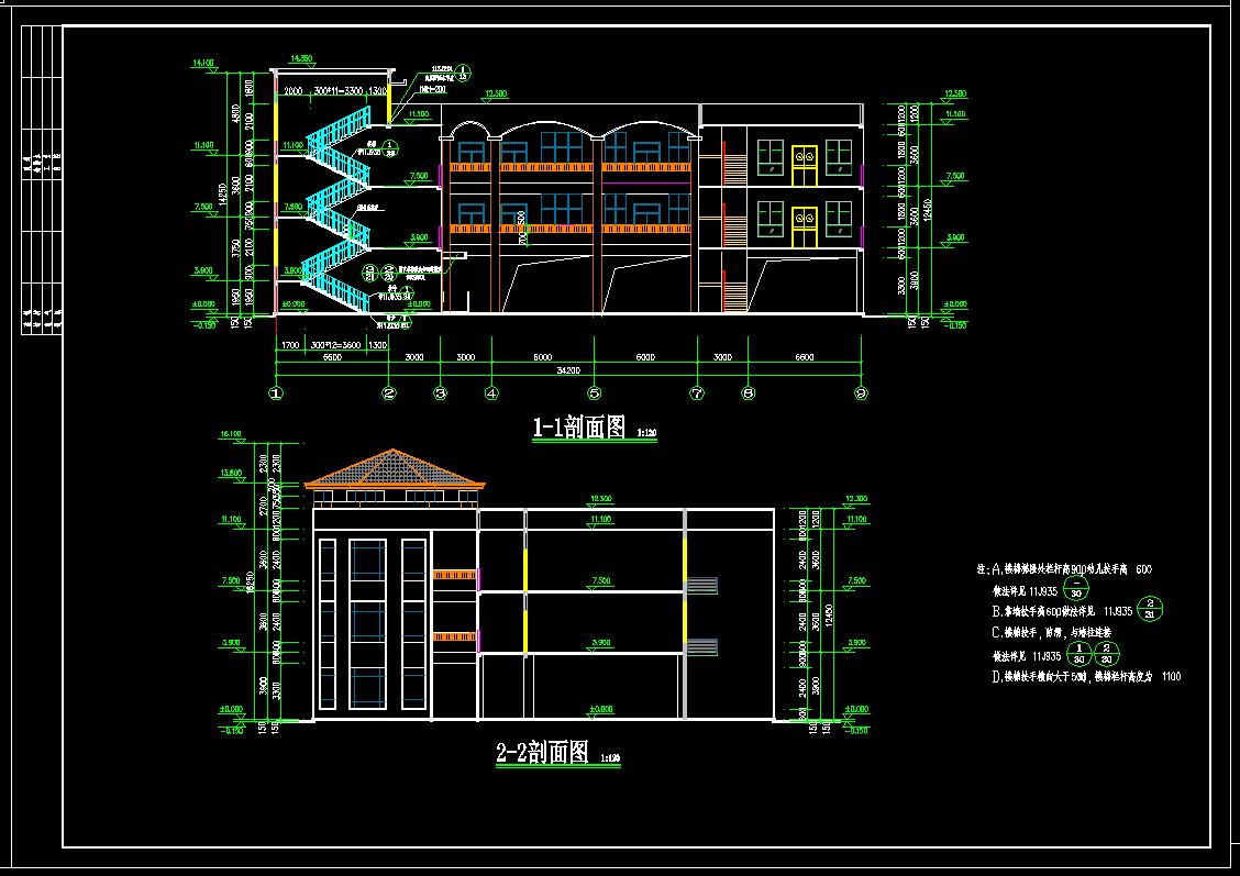 造价毕业设计_3层框架教学楼