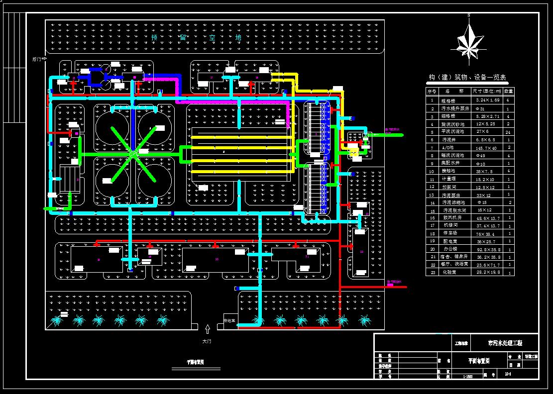 给水排水设计_15万吨污水处理厂设计