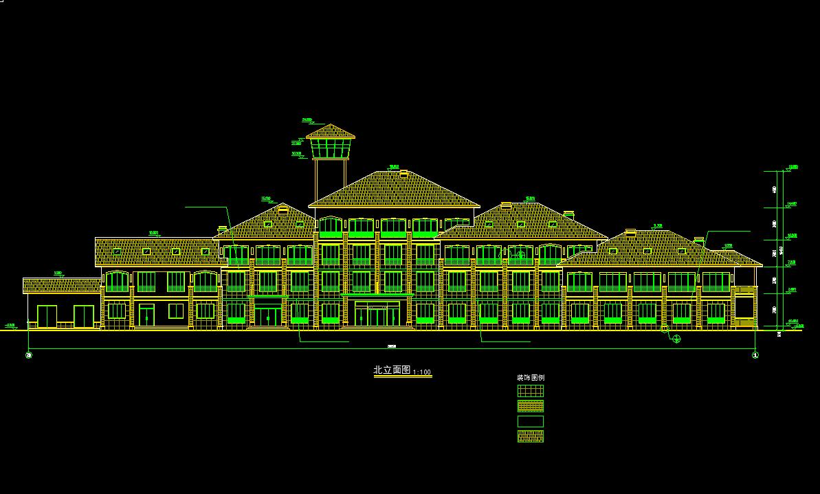 建筑/结构设计_4层框架结构酒店