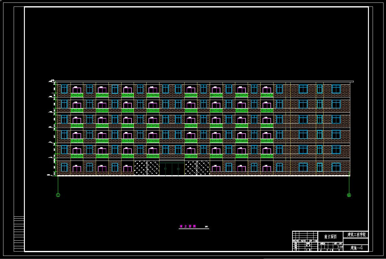 建筑/结构设计_6层框架结构公寓楼