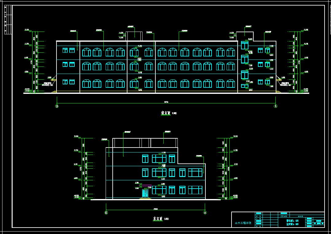 建筑/结构设计_3层框架结构综合楼