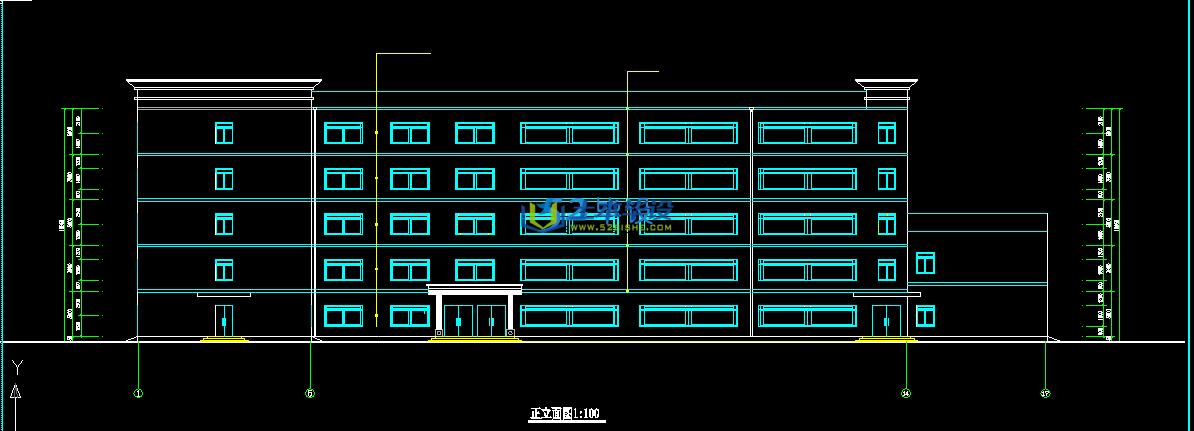 建筑结构设计及施工组织设计_某学校5层框架结构教学楼
