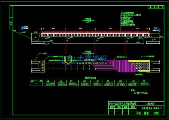 桥梁毕业设计_跨径4×15m钢便桥