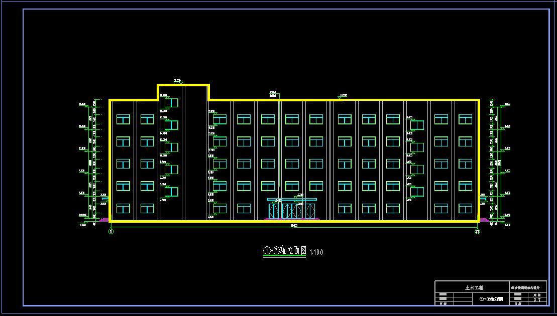 建筑/结构设计_5层框架结构综合楼
