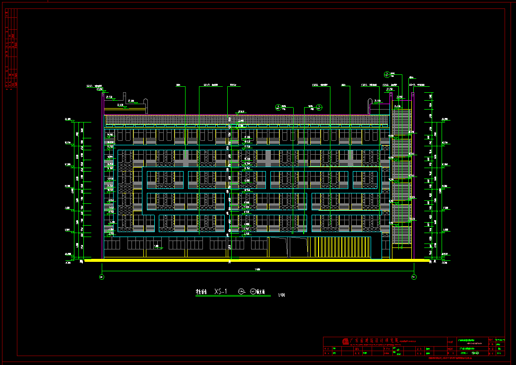 宿舍楼建筑结构图纸_6层框架结构宿舍楼