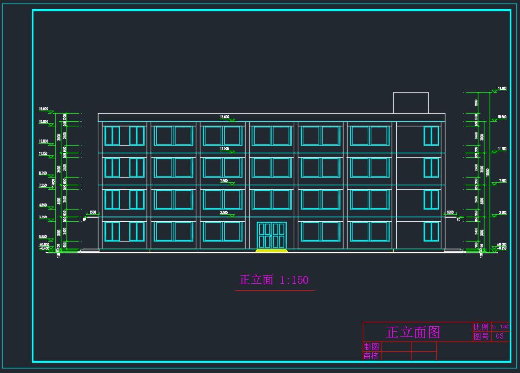 建筑/结构设计_4层框架结构厂房